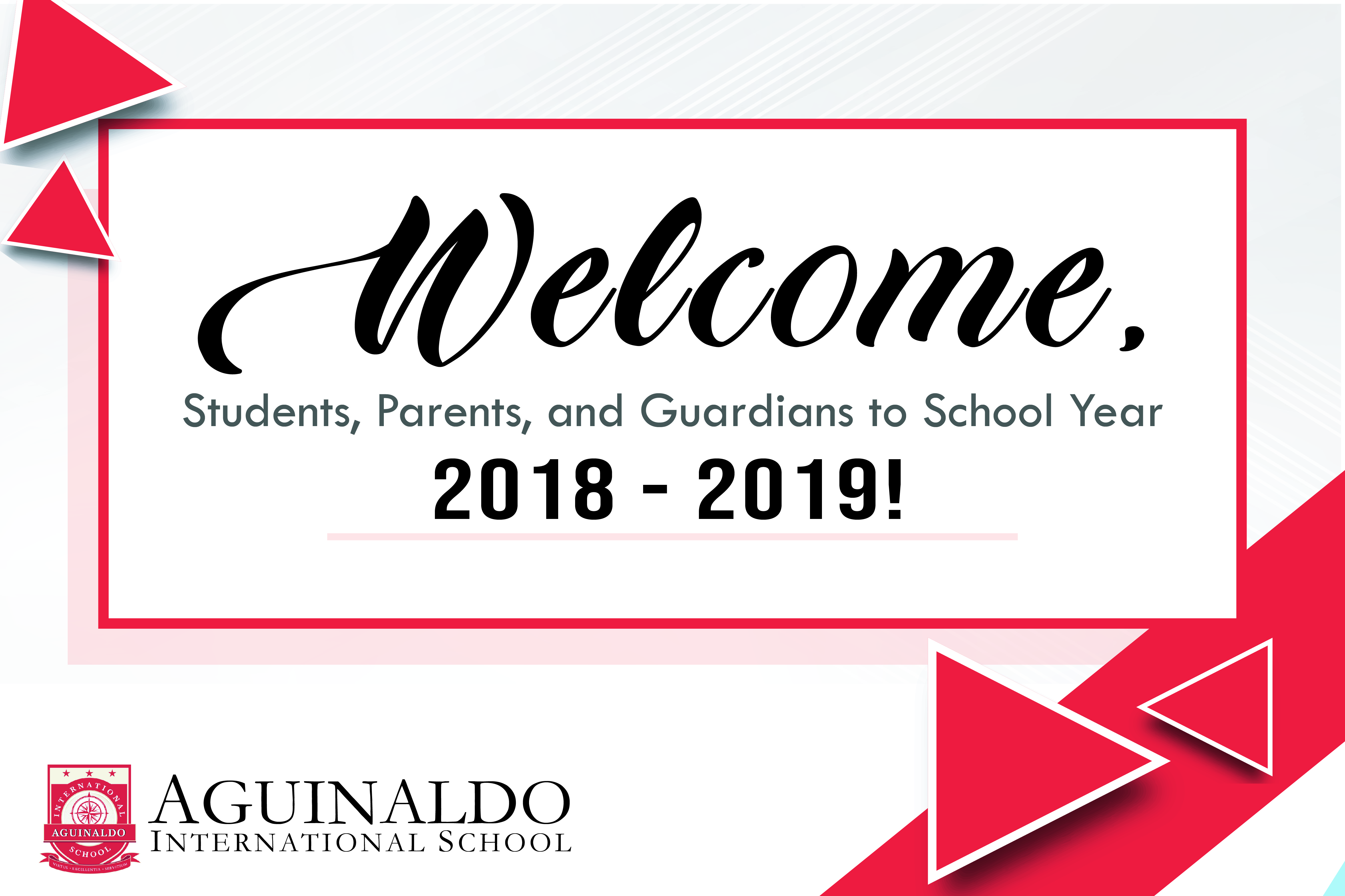 Welcome SY 2018-19